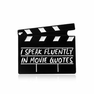 I Speak Fluently In Movie Quotes Enamel Pin